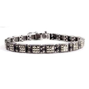 VTG Judith Jack Sterling Marcasite Tennis Bracelet
